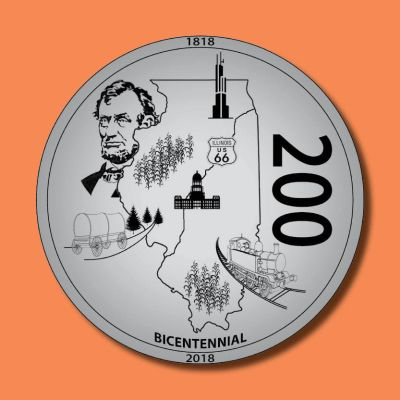 2018 Illinois Bicentennial Medallion